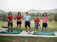 First Brother's Second Daughter with Family, training at golf driving range in Kuala Lumpur