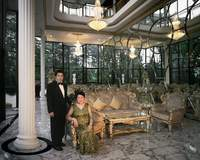 First Sister and Husband in formal reception room of their house, Kuala Lumpur